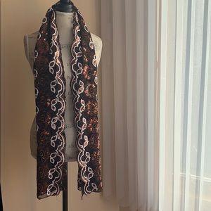 Handmade Sequined Shawl/ Scarf/ Hijab